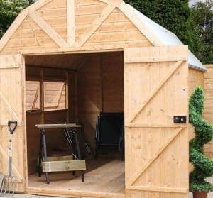 10' x 8' Windsor Groundsman Dutch Barn Shed Side View