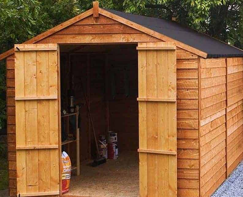 10' x 8' Windsor Overlap Apex Windowless Shed