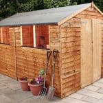 10' x 8' Windsor Overlap Double Door Apex Workshop Shed