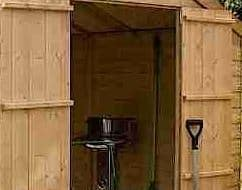 10' x 8' Windsor Shiplap Double Door 108 Shed Inside