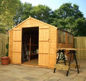 10' x 8' Windsor Shiplap Double Door 108 Shed Overall