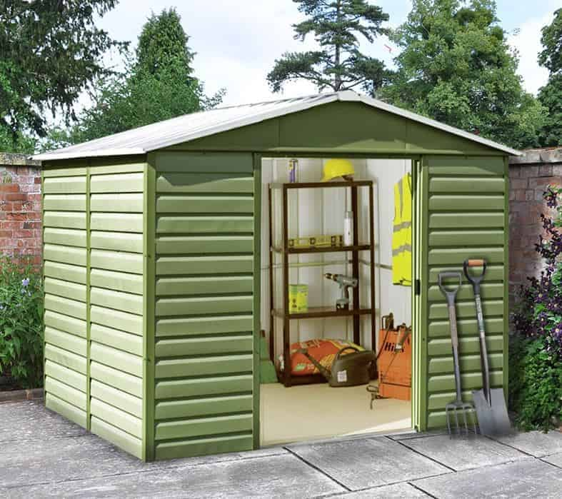 10' x 8' Yardmaster 108SL Shiplap Metal Shed + Floor Support Kit