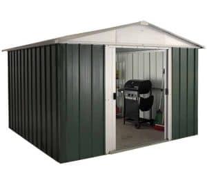 10' x 8' Yardmaster Green Metal Shed 108GEYZ Open Door