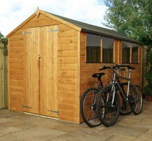 10'3 x 5'11 Windsor Norfolk Double Door Shed Double Door Closed
