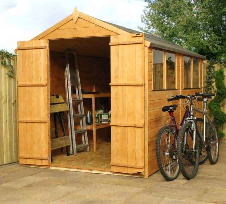 10'3 x 5'11 Windsor Norfolk Double Door Shed