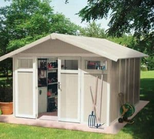 10'4 x 7'10 Grosfillex Utility 7.5 Plastic Shed