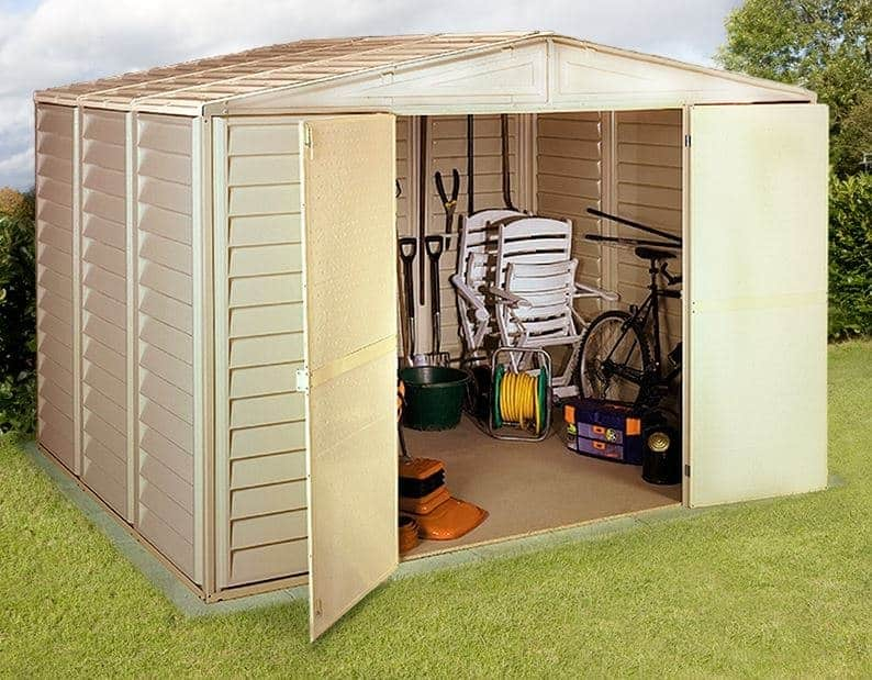 10'5 x 13' Duramax WoodBridge Plastic Shed - What Shed