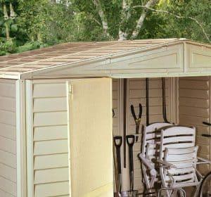 10'5 x 7'10 Duramax WoodBridge Plastic Shed Door, Cladding and Roofing
