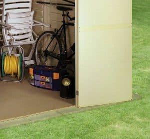 10'5 x 7'10 Duramax WoodBridge Plastic Shed Flooring and Internal View