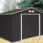 10'6 x 7'11 Store More Anthracite Metal Shed