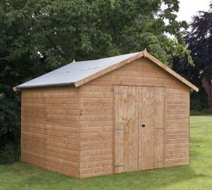 10x10 Waltons Groundsman Windowless Tongue and Groove Workshop Closed Door