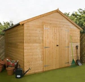 10x10 Waltons Groundsman Windowless Tongue and Groove Workshop Unpainted