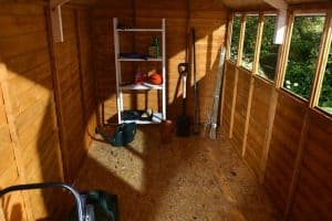 10x6 Shed-Plus Classic Overlap DD Shed Internal View