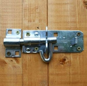10x6 Waltons Overlap Pent Wooden Shed Padlockable Door
