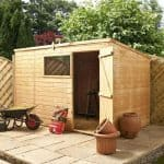 10x6 Waltons Tongue and Groove Pent Wooden Shed Feature