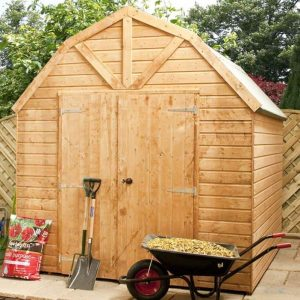 10x8 Waltons Windowless Dutch Barn Tongue and Groove Garden Shed Close Door