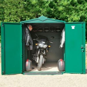 11 x 5 Asgard Motorcycle Secure Storage Garage Plus Front