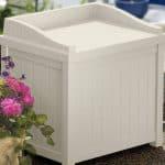 1'11 x 1'6 Suncast Resin Small Deck Box Garden Storage Seat