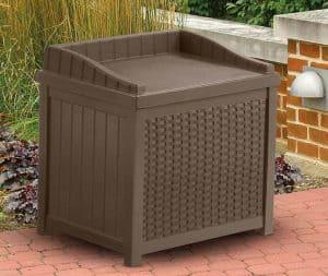 1'11 x 1'6 Suncast Resin Wicker Storage Seat