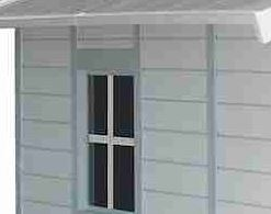 11'8 x 10'4 Grosfillex Deco 11 Plastic Shed Side Window