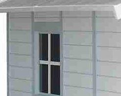 11'8 x 10'4 Grosfillex Deco 11 Plastic Shed Side Window