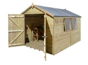 12' x 10' Shed-Plus Champion Heavy Duty Apex Double Door Shed 2