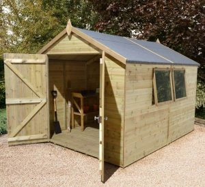 12' x 10' Shed-Plus Champion Heavy Duty Apex Double Door Shed