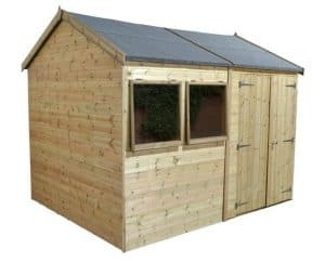 12' x 10' Shed-Plus Champion Heavy Duty Reverse Apex Double Door Shed 2