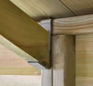 12' x 10' Shed-Plus Champion Heavy Duty Reverse Apex Double Door Shed Roof Support