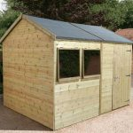 12' x 10' Shed-Plus Champion Heavy Duty Reverse Apex Single Door Shed