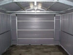12 x 20 StoreMore Emerald Olympian Apex Metal Garage Inside