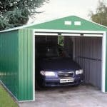 12 x 20 StoreMore Emerald Olympian Apex Metal Garage Open Door