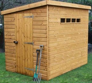 12' x 6' Traditional Pent Security Shed