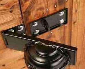 12' x 6' Traditional Pent Security Shed Door Lock