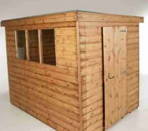 12' x 6' Traditional Standard Pent Shed Unpainted