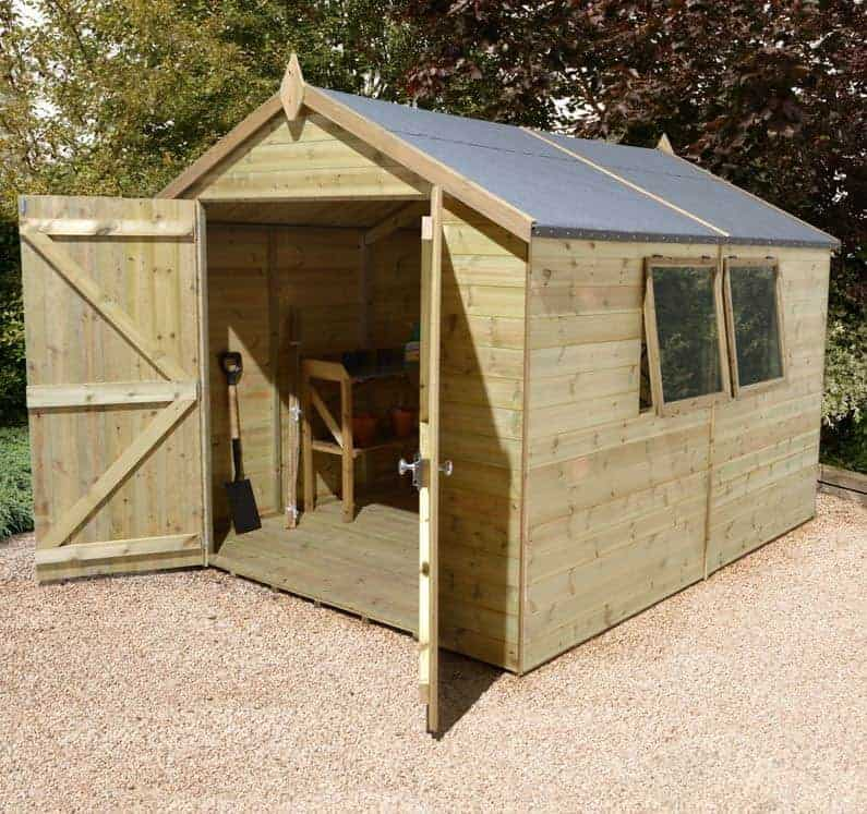 12' x 8' Shed-Plus Champion Heavy Duty Apex Double Door Shed