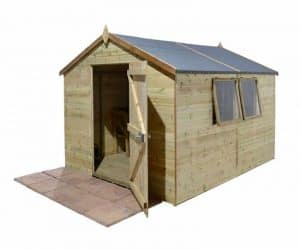 12' x 8' Shed-Plus Champion Heavy Duty Apex Single Door Shed Overall View