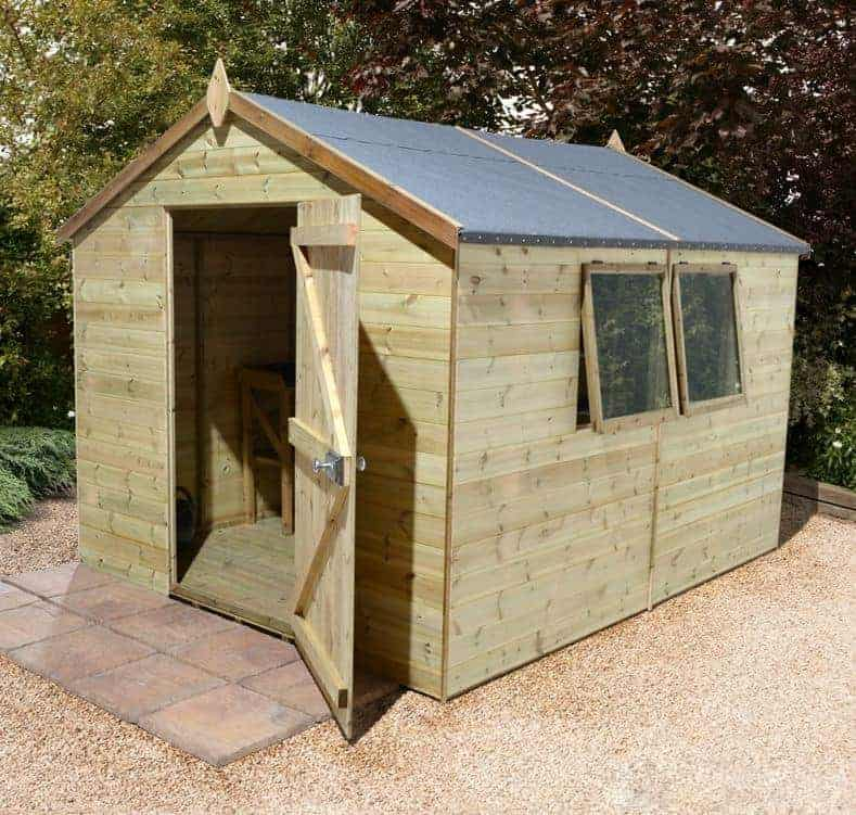 12' x 8' Shed-Plus Champion Heavy Duty Apex Single Door Shed