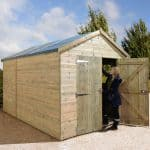 12' x 8' Shed-Plus Champion Heavy Duty Combination Double Door Shed Double Door