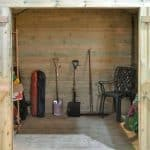 12' x 8' Shed-Plus Champion Heavy Duty Combination Double Door Shed Inside View