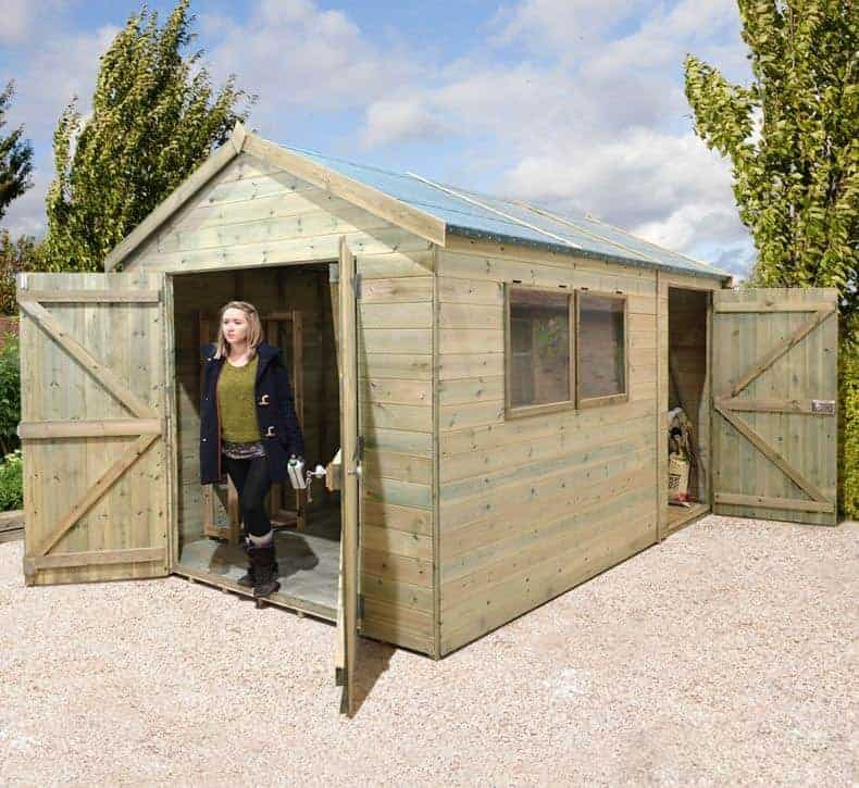 12' x 8' Shed-Plus Champion Heavy Duty Combination Double Door Shed