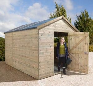 12' x 8' Shed-Plus Champion Heavy Duty Combination Single Door Shed
