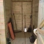 12' x 8' Shed-Plus Champion Heavy Duty Combination Single Door Shed Inside View