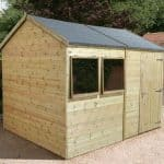12' x 8' Shed-Plus Champion Heavy Duty Reverse Apex Single Door Shed