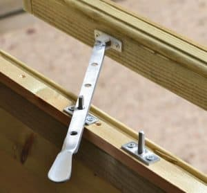 12' x 8' Shed-Plus Champion Heavy Duty Workshop with Logstore - Window Latch