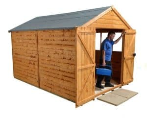 12' x 8' Shed-Plus Heavy Duty Shed Workshop Unpainted