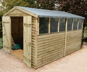 12' x 8' Shed-Plus Pressure Treated Overlap Workshop