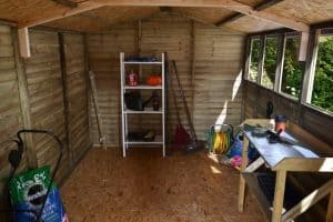 12 x 8 Shed-Plus Pressure Treated Overlap Workshop Internal View