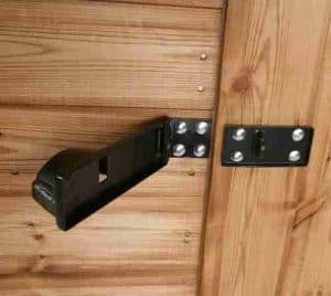 12' x 8' Traditional Apex Security Shed Door Security