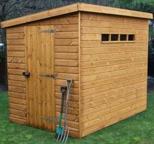 12' x 8' Traditional Pent Security Shed